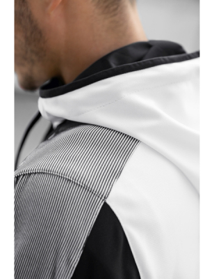 ERIMA Premium One 2.0 Training Jacket with hood PREMIUM ONE 2.0 weiß/schwarz/weiß