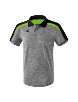 ERIMA Kinder / Herren Liga 2.0 Poloshirt LIGA LINE 2.0 grau melange/schwarz/green gecko