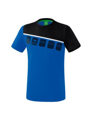 ERIMA Kinder / Herren 5-C T-Shirt 5-C new royal/schwarz/weiß