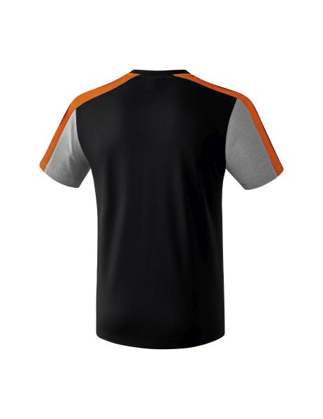 Fußball Erima Premium One 2.0 Poloshirt schwarz-grau melange-neon orange Kinder NEU