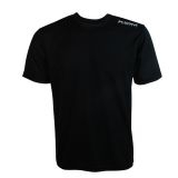 FriJa T-Shirt aus Microfaser in schwarz mit Werbedruck hinten (Restposten)