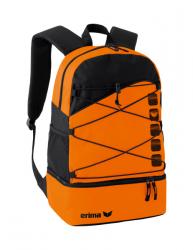 ERIMA Multifunktionsrucksack mit Bodenfach CLUB 5 orange/schwarz