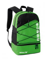 ERIMA Multifunktionsrucksack mit Bodenfach green/schwarz