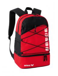 ERIMA Multifunktionsrucksack mit Bodenfach rot/schwarz