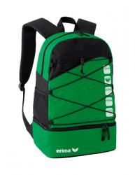 ERIMA Multifunktionsrucksack mit Bodenfach smaragd/schwarz