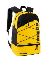 ERIMA Multifunktionsrucksack mit Bodenfach gelb/schwarz