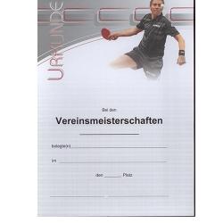Donic Urkunde Persson VM
