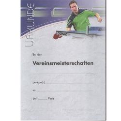 Donic Urkunde Waldner mit VM