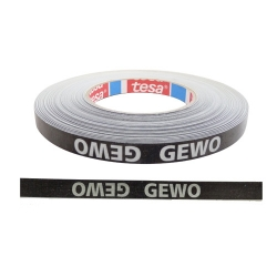 Gewo Kantenband 12 mm 5 m schwarz/silber