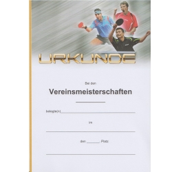 Joola Urkunde Triple mit Text VM