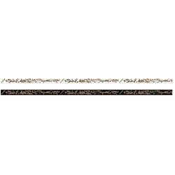 Xiom Kantenband Mandarin 12mm/50m schwarz/gold