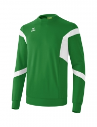 ERIMA Kinder / Herren Classic Team Sweatshirt Classic Team smaragd/weiß