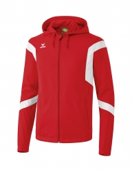 ERIMA Classic Team Training Jacket with hood Classic Team rot/weiß