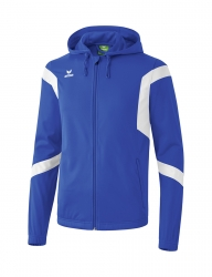 ERIMA Kinder / Herren Classic Team Trainingsjacke mit Kapuze Classic Team new royal/weiß
