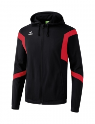 ERIMA Classic Team Training Jacket with hood Classic Team schwarz/rot