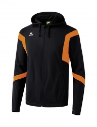 ERIMA Kinder / Herren Classic Team Trainingsjacke mit Kapuze Classic Team schwarz/orange