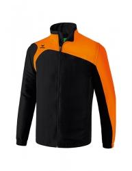 ERIMA Kinder / Herren Club 1900 2.0 Jacke mit abnehmbaren Ärmeln CLUB 1900 2.0 schwarz/orange