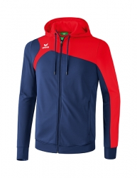 ERIMA Kinder / Herren Club 1900 2.0 Trainingsjacke mit Kapuze CLUB 1900 2.0 new navy/rot (+3% Zusatzrabatt)