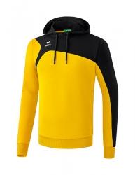 ERIMA Club 1900 2.0 Kapuzensweat gelb/schwarz