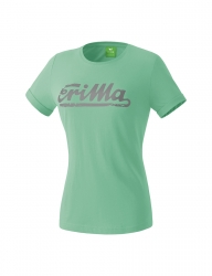 ERIMA Frauen RETRO t-shirt Casual Basics neptune green/grau