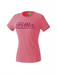 ERIMA Frauen RETRO t-shirt Casual Basics flamingo/dahlia
