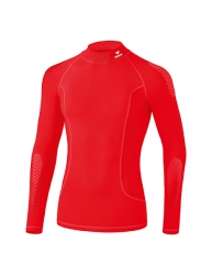 ERIMA Elemental Long Sleeve Top with stand-up collar  rot