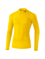 ERIMA Elemental Long Sleeve Top with stand-up collar  gelb