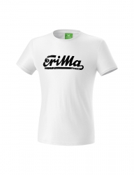 ERIMA Kinder / Herren RETRO t-shirt Casual Basics weiß/schwarz