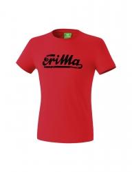 ERIMA Kinder / Herren RETRO t-shirt Casual Basics rot/schwarz