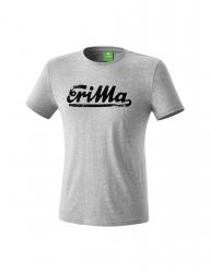 ERIMA Kinder / Herren RETRO t-shirt Casual Basics grau melange/schwarz