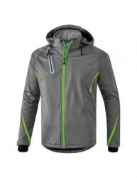 ERIMA Kinder / Herren Softshell Jacke Function Outdoor Basics grau melange/green gecko
