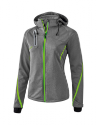 ERIMA Frauen Softshell-Jacke Funktion Outdoor Basics grau melange/green gecko