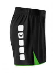ERIMA Frauen 5-CUBES Short ohne Innenslip 5-CUBES schwarz/green (1,5% Zusatzrabatt bei Vorkasse)
