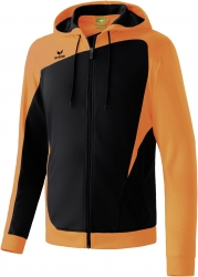ERIMA Herren CLUB 1900 Trainingsjacke mit Kapuze CLUB 1900 schwarz/neon orange (Restposten)