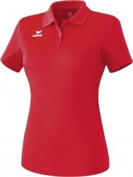 ERIMA Frauen Funktions-Poloshirt rot (Restposten) (2% Zusatzrabatt bei Vorkasse ab 200,00 ¤ Bestellwert)