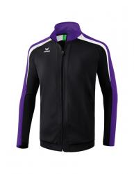 ERIMA Kinder / Herren Liga 2.0 Trainingsjacke LIGA LINE 2.0 schwarz/violet/weiß