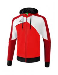 ERIMA Kinder / Herren Premium One 2.0 Trainingsjacke mit Kapuze PREMIUM ONE 2.0 rot/weiß/schwarz