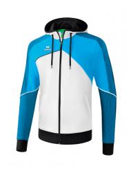 ERIMA Kinder / Herren Premium One 2.0 Trainingsjacke mit Kapuze PREMIUM ONE 2.0 weiß/curacao/schwarz