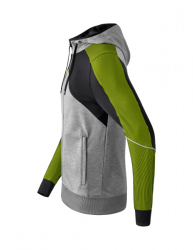 ERIMA Premium One 2.0 Training Jacket with hood PREMIUM ONE 2.0 grau melange/schwarz/lime pop