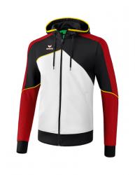 ERIMA Kinder / Herren Premium One 2.0 Trainingsjacke mit Kapuze PREMIUM ONE 2.0 weiß/schwarz/rot/gelb