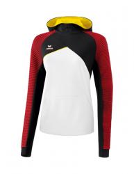 ERIMA Frauen Premium One 2.0 Kapuzensweat PREMIUM ONE 2.0 weiß/schwarz/rot/gelb