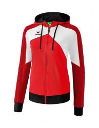 ERIMA Damen Premium One 2.0 Trainingsjacke mit Kapuze rot/weiß/schwarz