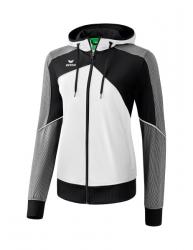 ERIMA Damen Premium One 2.0 Trainingsjacke mit Kapuze weiß/schwarz/weiß