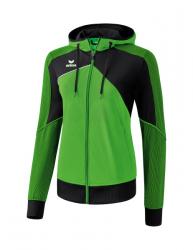 ERIMA Frauen Premium One 2.0 Trainingsjacke mit Kapuze PREMIUM ONE 2.0 green/schwarz/weiß