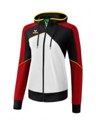 ERIMA Frauen Premium One 2.0 Trainingsjacke mit Kapuze PREMIUM ONE 2.0 weiß/schwarz/rot/gelb