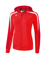 ERIMA Frauen Liga 2.0 Trainingsjacke mit Kapuze LIGA LINE 2.0 rot/dunkelrot/weiß