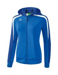 ERIMA Frauen Liga 2.0 Trainingsjacke mit Kapuze LIGA LINE 2.0 new royal/true blue/weiß