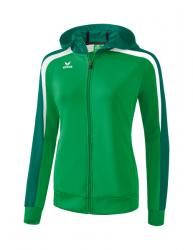 ERIMA Frauen Liga 2.0 Trainingsjacke mit Kapuze LIGA LINE 2.0 smaragd/evergreen/weiß