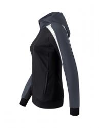 ERIMA Frauen Liga 2.0 Trainingsjacke mit Kapuze LIGA LINE 2.0 schwarz/weiß/dunkelgrau