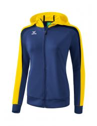 ERIMA Frauen Liga 2.0 Trainingsjacke mit Kapuze LIGA LINE 2.0 new navy/gelb/dark navy